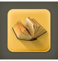 Open book flat icon vector image vector image