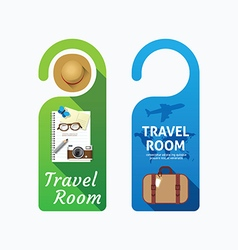 Paper door handle lock hangers concept travel vector image