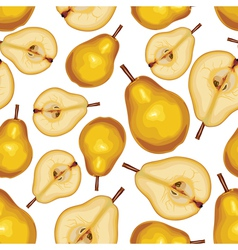 pear half seamless vector image vector image