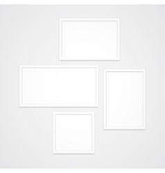Photo Frames Set vector image vector image