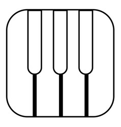 piano keys icon outline style vector image vector image