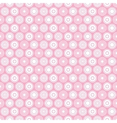 Pink circle seamless pattern vector
