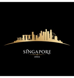 Singapore skyline Detailed silhouette vector image