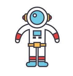 spaceman concept line icon editable vector image vector image