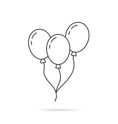 thin line balloon icon with shadow vector image vector image