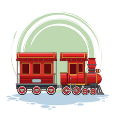 Train riding cartoon vector