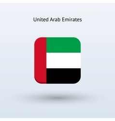 United arab emirates flag icon vector