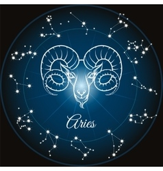 Zodiac sign aries vector