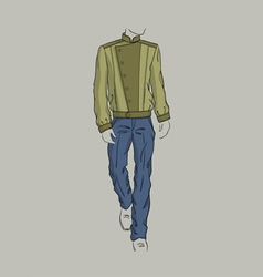 Jacket and trousers for men vector