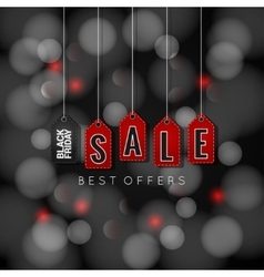 Black Friday sale on abstract lights background vector image