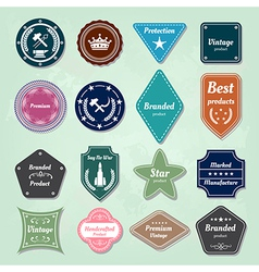 Collection of nautical labels badges and icons vector image