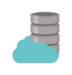 Cloud data server information technology vector