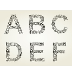 Snow the alphabet vector image