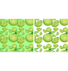 Seamless background design with limes vector
