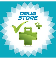 Drugstore accept icons vector