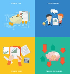 Element of financial concept icon in flat design vector