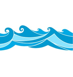 seamless waves vector image
