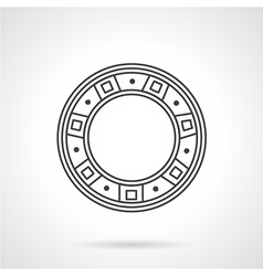 Roller bearing line icon vector
