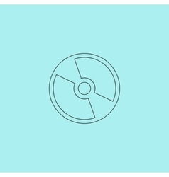 Cd or dvd icon vector