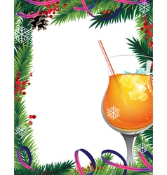 Christmas tree and cocktail vector