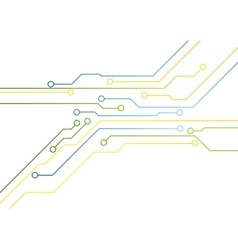 Tech bright circuit board background vector