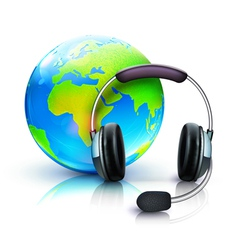 global online support concept vector image
