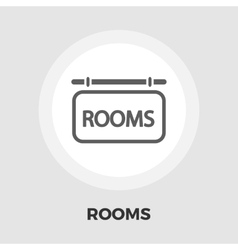 Hotel icon flat vector