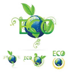 Eco earth symbols vector