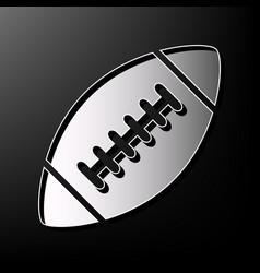 American simple football ball gray 3d vector