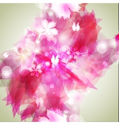 background with light red abstract flowers vector image
