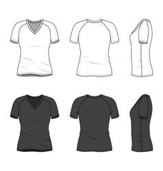 Blank v-neck t-shirt vector