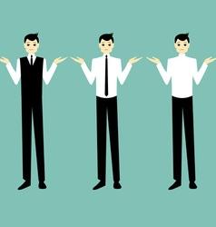 businessman shrug vector image