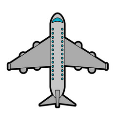 commercial airplane topview icon image vector image vector image