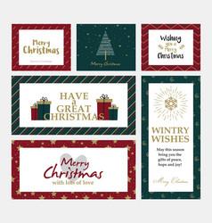 Cristmas cards design 3 vector