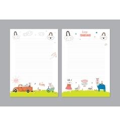 Cute Calendar Daily Planner vector image vector image