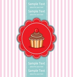Cute cupcake gift card vector