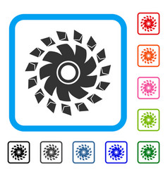 ethereum propeller framed icon vector image
