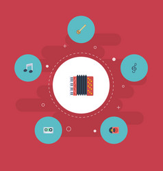 flat icons tape harmonica tone symbol and other vector image vector image