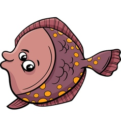 Flounder fish cartoon vector