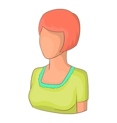 Girl with short hair avatar icon cartoon style vector