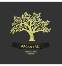 Hand drawn graphic argan tree vector image vector image