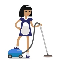 House cleaning personnel concept vector