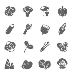 Icon set - vegetable vector image vector image