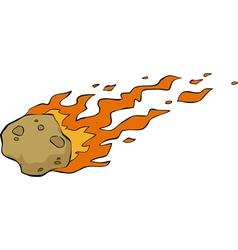 Meteorite on fire vector