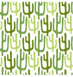 mexican cactus seamless pattern cartoon vector image vector image