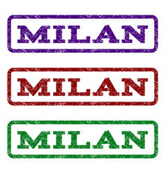 Milan watermark stamp vector
