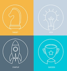 Outline web icon set vector image vector image