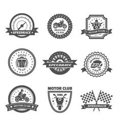 Rider Label Set vector image