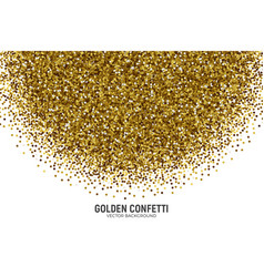 Scattered golden confetti white background vector