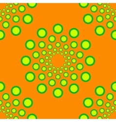Seamless dotted circles pattern repeating vector